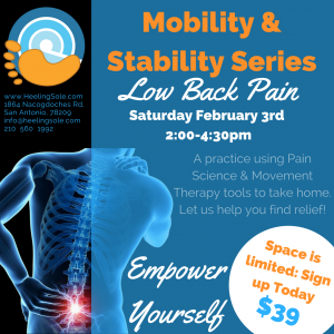 San Antonio Low back Pain Mobility and Stability class