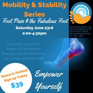 Mobility & Stability classes in San Antonio Texas