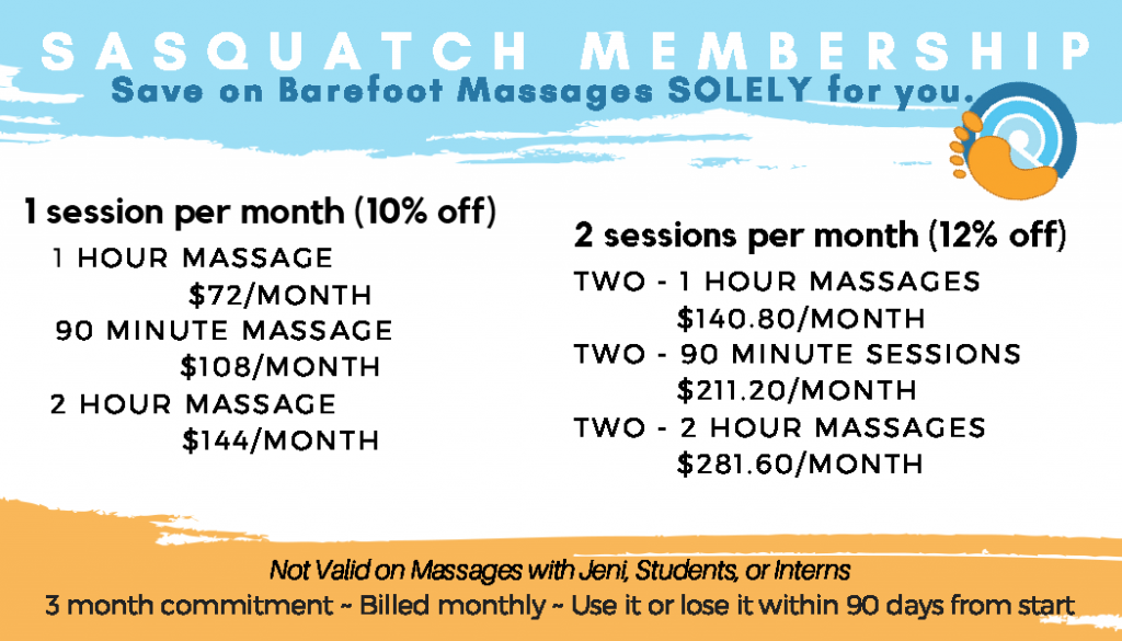 Discount Massage Membership Pricing
