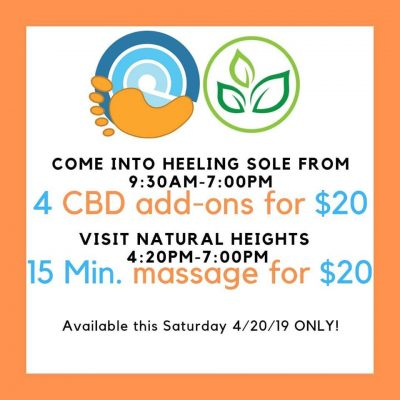 CBD massages at Heeling Sole thanks to Natural Heights