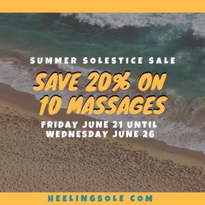 20% off 10 prepaid massages at heeling sole in san antonio